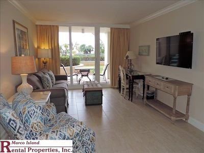 Photo for Marco Beach Ocean Resort Unit 505 private condo with access to the pool area from the patio.