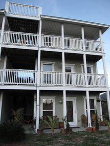Photo for 3 Story House/Balconies/Rooftop Deck Master Suite + Kitchen Nook! Best Area PCB!
