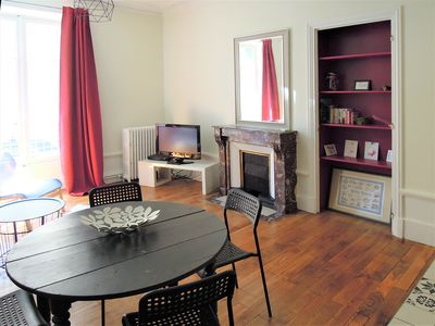 Photo for Superb,spacious and quiet 4-rooms flat, city center❤️5 min walking gare #H9