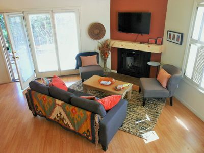 open concept and comfy furnishings