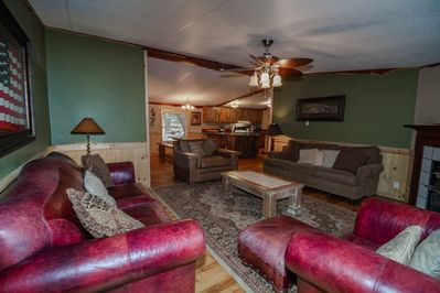 Large Living Room with King Ranch Furniture