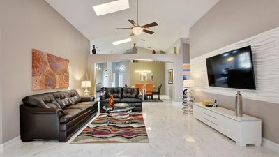 Photo for Welcome to The Elegant Dream Villa, 3 miles from Disney World, southfacing pool