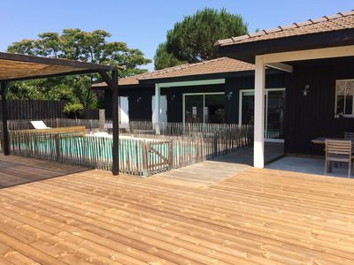 Photo for PROMO WEEK 20 JULY !!! HOUSE OF THE ARCACHON BASIN WITH FENCED SWIMMING POOL