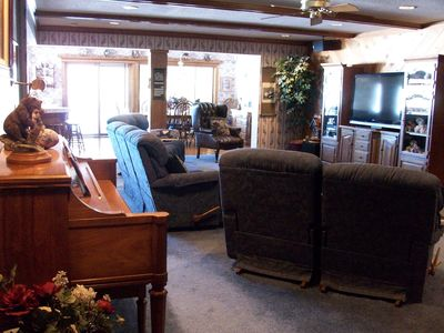 Great Room With Piano & Entertainment Center