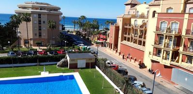 Photo for 5 pers. lux app. by the sea Malaga - Torrox Costa incl. swimming pool and tennis court.