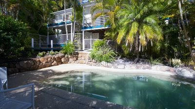 Photo for Private pool & heated spa, communal tennis court, 10 mins walk to shops/cafes