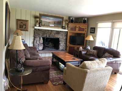Photo for Charming Condo on Bus Route, Gas Fireplace, Private Yet Close to All Activites