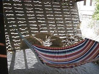 The hammock in the shade at Cas del horno