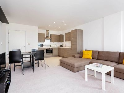 Photo for Modern and spacious one bedroom apartment in Battersea (Veeve)