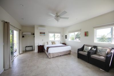 Spacious and bright studio with a split system air-conditioner