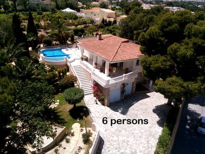 Photo for spacious luxury villa with sea views (3 bed and 3 bathrooms) in Albir / Alfaz