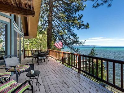 Photo for Lake Front, Regan Beach Home with Private Beach, Pier and Buoy (RB01)