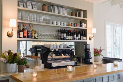 Full bar with local beers and organic sustainable and biodynamic wines