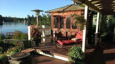 Photo for Lake Roesiger 2 Bedroom Apartment - Amazing view, hot tub, privacy and quality.