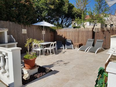 Photo for BEAUTIFUL APARTMENT 4 PERS, RDJ, ALL AT FEET, DOWNTOWN, BEACH, TERRACE, GARDEN