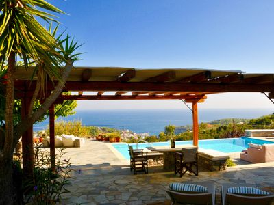 Photo for Paparouna villa , stunning villa, sleeps 8,4 bathrooms,luxury studio/room