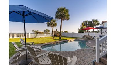 Photo for 85 Dune, Immaculate Oceanfront Hilton Head Home with Pool, Elevator!