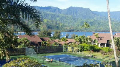 """Photo for Hanalei Bay """"RESORT"""" 2311 Studio***Spectacular $1M Views***, Daily Outdoor BBQ!"""