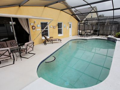 Photo for Large villa with own south facing private pool. Close to Disney.