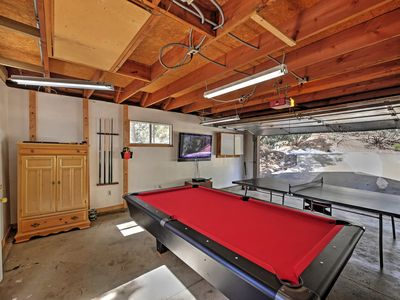 Challenge a loved one to a billiards game or ping pong match in the garage!