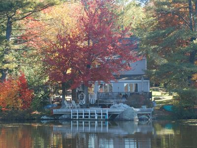 Photo for Waterfront home with magnificent sunsets on tranquil lake