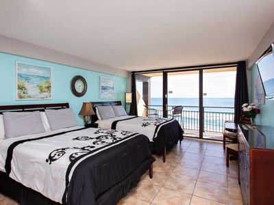 Photo for Top Floor Direct OceanFront Updated Unit at Hawaiian Inn w/ 2 Queen Beds, Private Balcony-FREE WIFI!