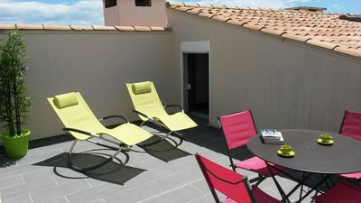 Photo for CAP D'AGDE, Large T2 Duplex with solarium, 2 stars, 6 pers, 2 bedrooms, secure