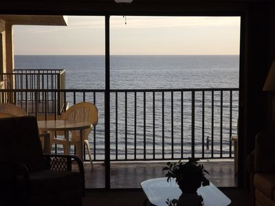 Gulf view from the living room
