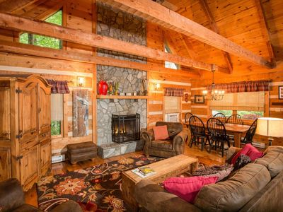 Photo for The Rocky Roost - Mountain & LAKE Views, Hot Tub, Pool Table, Fire Pit