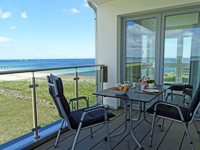 Photo for Luxury apartment with sauna, fireplace & water views in the Baltic Sea resort Olpenitz