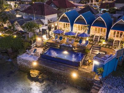 Photo for Villa Lembongan 2 adult Aqua Beach Front