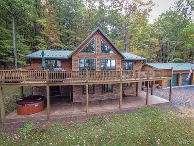 Photo for Tremendous 4 Bedroom Log Chalet w/ Stunning Mountain & Pastoral Views!