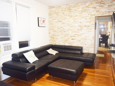 Photo for Gorgeous 3+ bedroom 2bath house 10mins Bus Ride to NYC