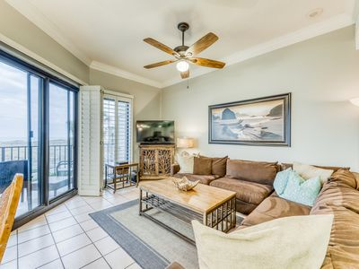 Photo for Ground floor, Gulf front condo w/ shared pools, hot tubs, tennis courts, and gym