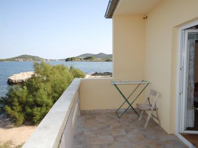 Photo for Two bedroom apartment with terrace and sea view Neviđane (Pašman)