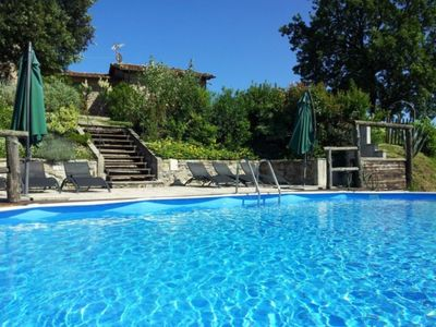 Photo for Holiday House in the hills between Lucca and Viareggio with swimming pool for 3-4-4 people