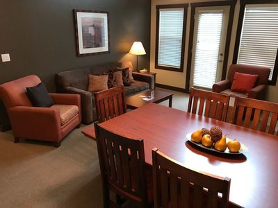 Dining Area with a Queen Sofa Bed