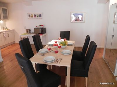 "Photo for 3-Zi.-Apartment ""Kampnagel"" modern apartment up to 8 people, incl. WIFI"