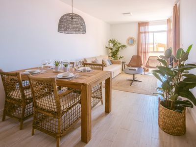 Photo for Apartment with pool 2 Rooms + 2 Bathrooms with views, beach at 300m and free parking