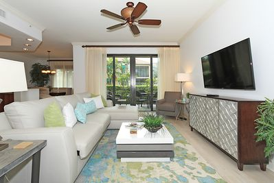 This newly remodeled and decorated condo colors are tranquil and elegant