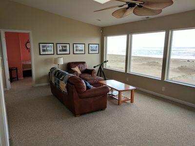 Photo for Sweeping ocean views on two levels, spacious oceanfront house!