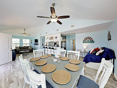 Photo for New Listing! Brand-New Stilted Home: Large Deck w/ Gulf Views, Walk to Beach