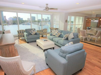 Photo for Waterfront Unit with Dolphins in your back yard & easy walking distance to town!