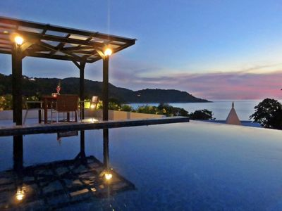 Photo for Honeymoon Ocean View, Private Pool Penthouse, Walk To Beach !