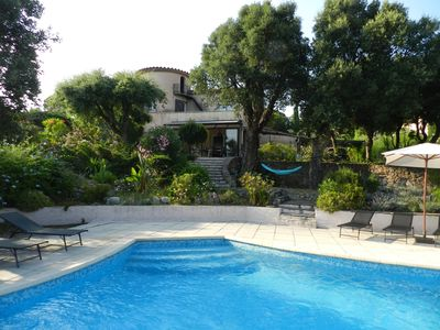 Photo for Pretty Provencal villa renovated in 2018 with heated swimming pool 800m from the sea