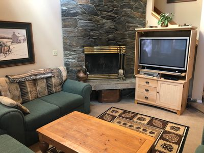"Wood Burning Fireplace or Presto Logs plus 42"" HDTV"
