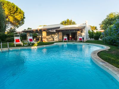 Photo for Private Villa with private pool, WIFI, A/C, TV, patio, washing machine, parking, close to Ostuni