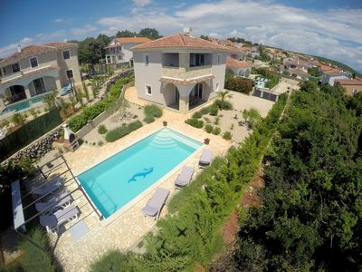 Photo for VILLA MARIE : 5* house, large heated pool, sea view, GYM, 900m from the sea