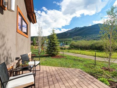 Photo for Breathtaking mountain modern home w/private hot tub! Walk to town!