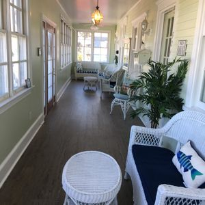 Beautiful newly remodeled front porch